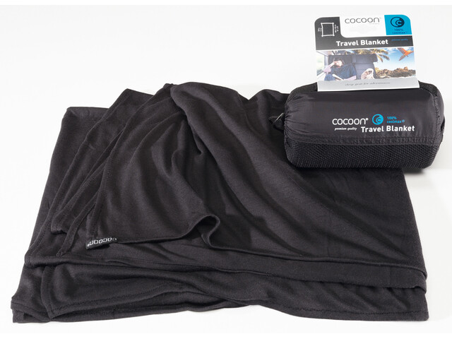 Cocoon Travel Blanket CoolMax, black